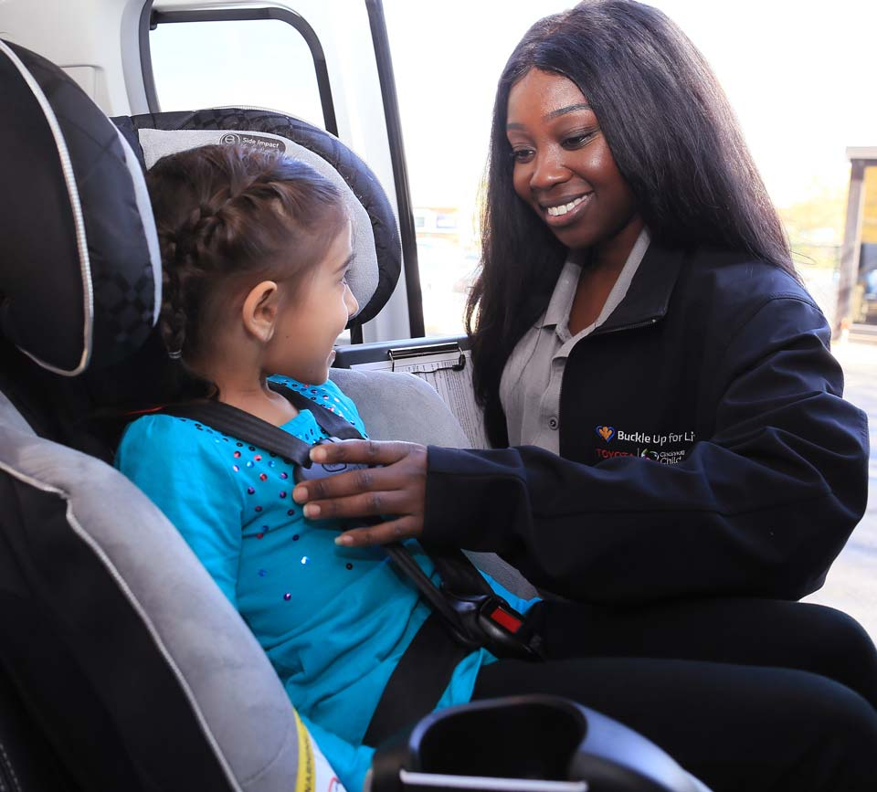 In-person car seat safety checks